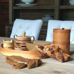 Little Baskets, Praying Hands, and Wooden Tray